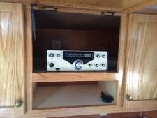 Ham radio mounted in teardrop trailer