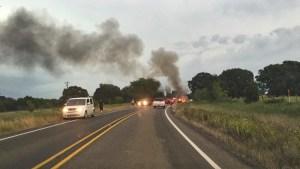 photo of car fire near Fruitvale, Texas