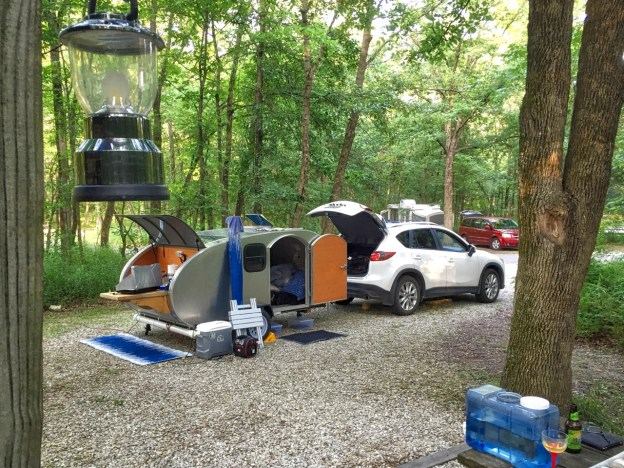 photo of campsite at Mark Twain State Park