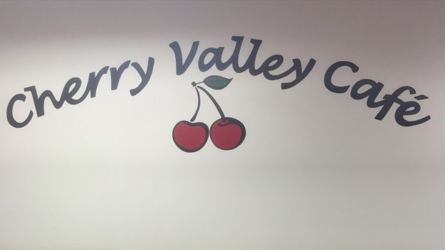 photo of Cherry Valley Cafe sign