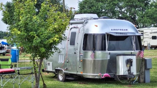 photo of an Airstream Bambi trailer
