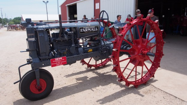 photo of the rebuilt and painted tractor