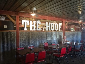 interior photo of The Hoof restaurant in Madison Missouri