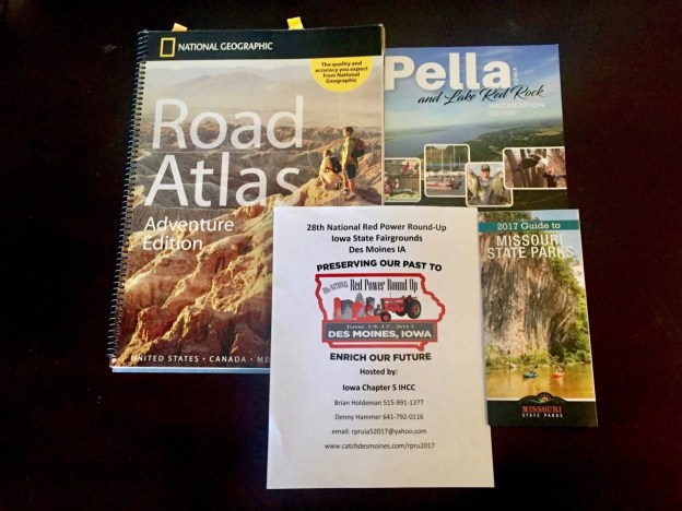 photo of maps and brochures