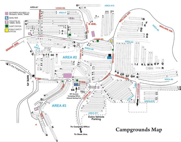 Map of the Iowa State Fair Campgrounds