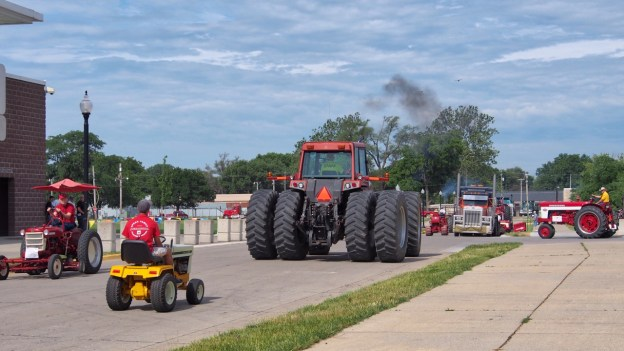 photo of tractor preparing for a parade