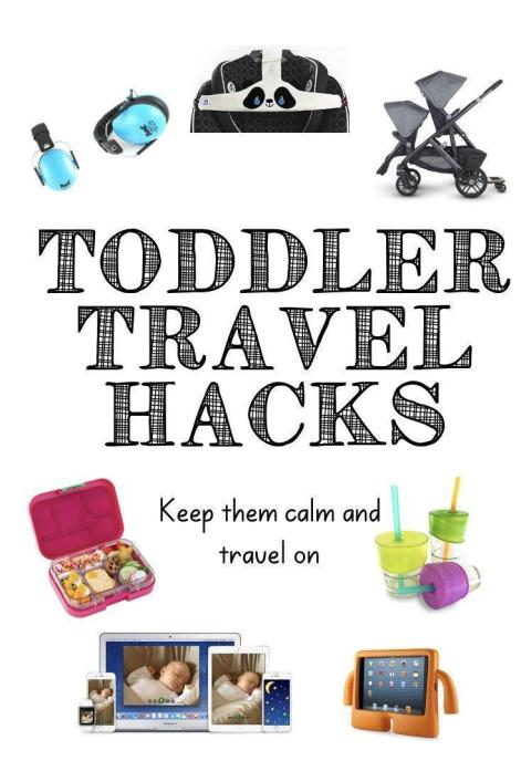 Toddler travel is tough. Everything is new and exciting and new and exciting until EVERYTHING IS AWFUL. Here is my list of toddler travel gear that will help you hack snacks, sleep, activities and more on your next trip with a toddler! #toddlertravel #travelwithtoddlers #toddlertraveltips #travelhacks #travelingwithtoddlers #toddlerairplane #traveltoysfortoddlers #toddlertravelessentials