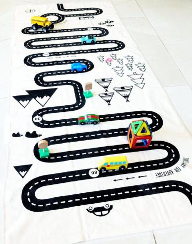 Toys to Bring on Vacation: Street Map Rug