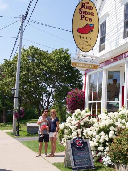 The Red Shoe Pub. Cape Breton Nova Scotia with Kids.