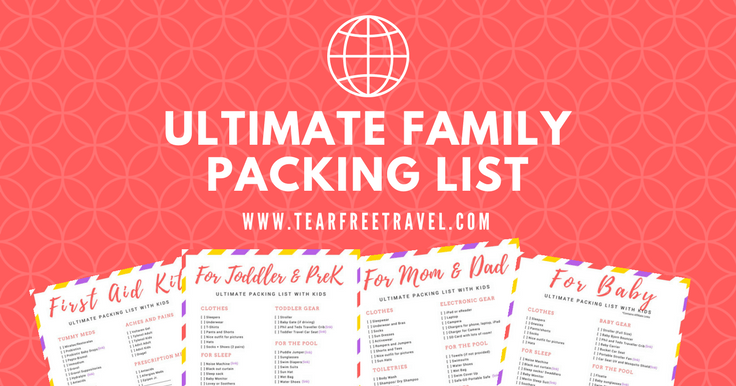 Packing List Sample For Travel With Kids  Packing List Sample