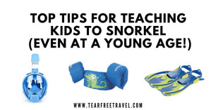 teaching kids to snorkel