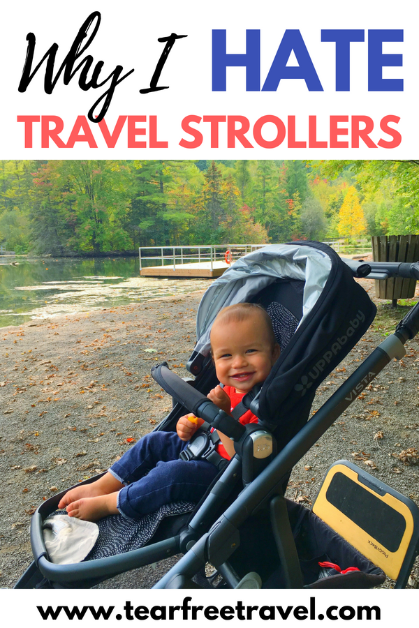 Are you looking for the best stroller for travel? Well look no further than your own house! For me, the best travel stroller is the full size stroller that you already have. Read my review to find out exactly why you probably don't need a lightweight or compact stroller for travel. I'll review the best double stroller and single stroller for travel. Lots of stroller ideas for your next trip! #babygear #travelstroller #stroller #travelwithkids