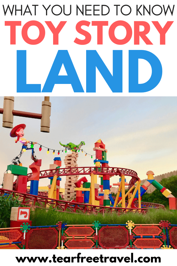 Here's what you need to know about Disney World's Toy Story Land! Toy Story Land is one of the newest attractions at Disney World's Hollywood Studios. Add this to your must-do list for your next Disney World vacation. We'll show you how to beat the lines and enjoy your time at Toy Story Land.  Pin these to your Disney Tips board for your next Disney World trip! #Disney #disneyworld #disneyvacation