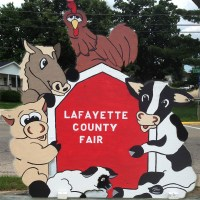 Photo of Lafatette County Fair sign