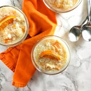 Slow Cooker Orange Tapioca Pudding