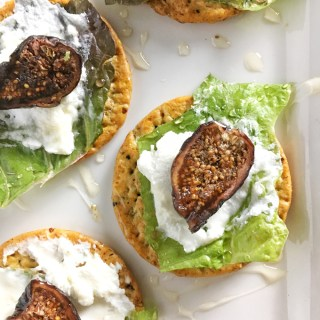 Fig and Goat Cheese Salad Cracker Bites