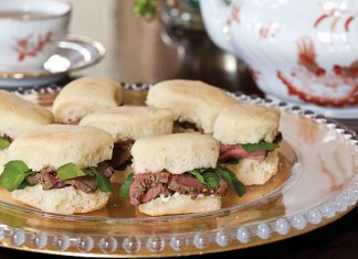 Beef au Poivre and Watercress Tea Sandwiches