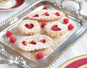 Raspberry-Almond Tea Cakes