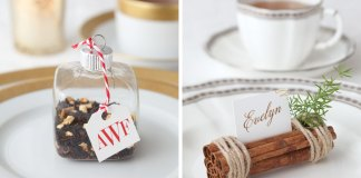 Holiday Tea Place Cards