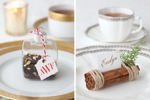 Holiday Guide Holiday Tea Place Cards