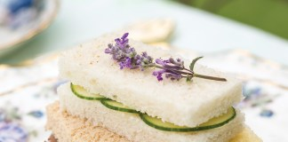 Mint Lavender–Cucumber Sandwiches