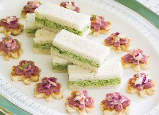 Pesto-Chicken Tea Sandwiches