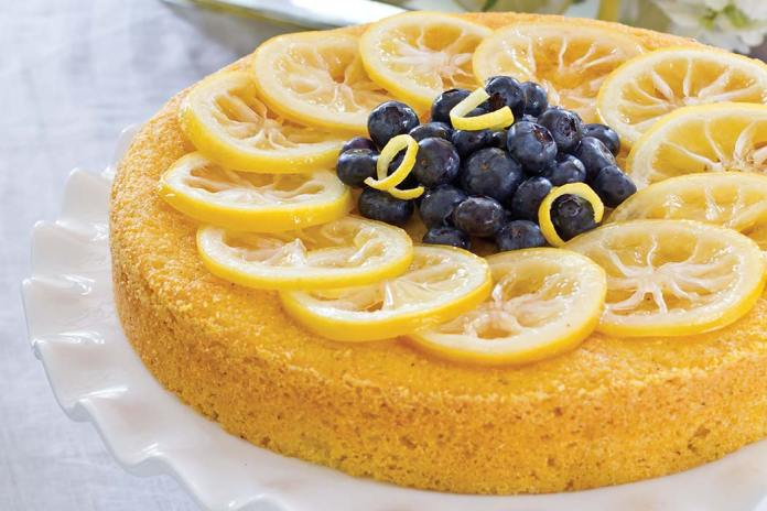 Lemon-Blueberry Cornmeal Cake