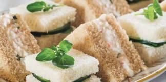 Cucumber-Crème Fraîche Tea Sandwiches