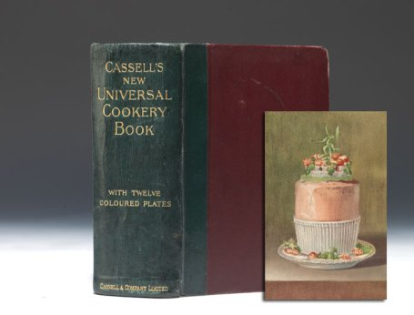 FIRST EDITION OF LIZZIE HERITAGE'S CASSELL'S NEW UNIVERSAL COOKERY BOOK, 1894,