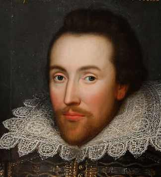 A young William Shakespeare