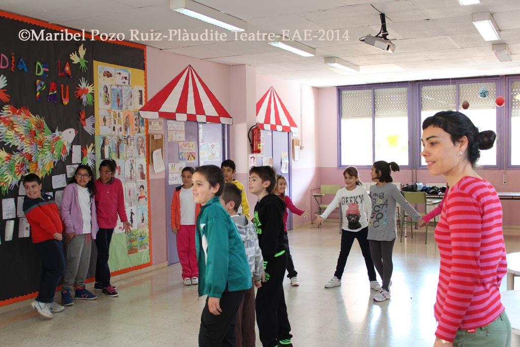 Projecte Tandem LH Plàudite Teatre-EAE i l'escola Milagros Consarnau de L'Hospitalet de Llobregat Barcelona