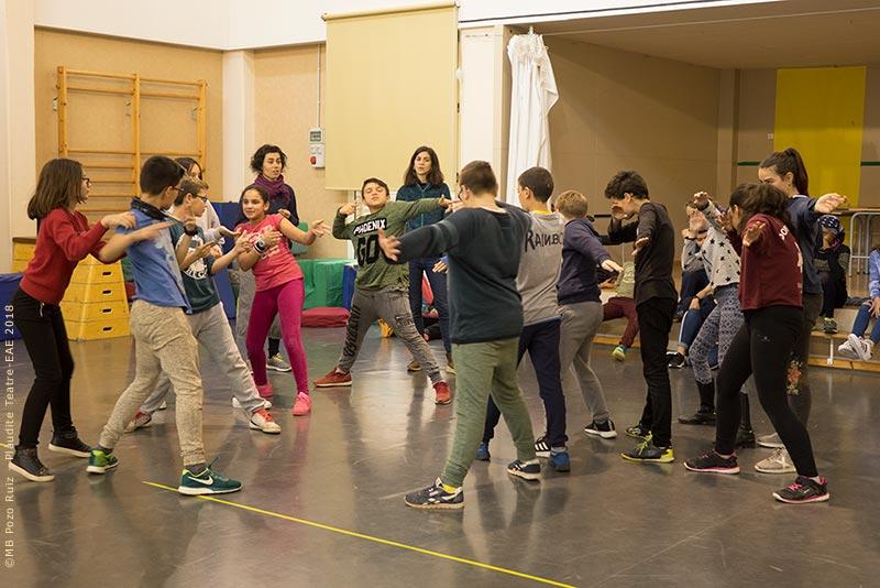 Fem Tàndem de Teatre a l'Escola Prat de la Manta
