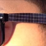 Gafas solares cargador de smartphone.