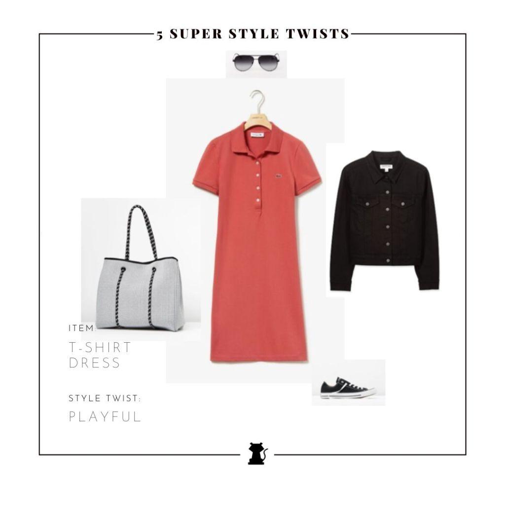 Style A T-Shirt Dress Playful