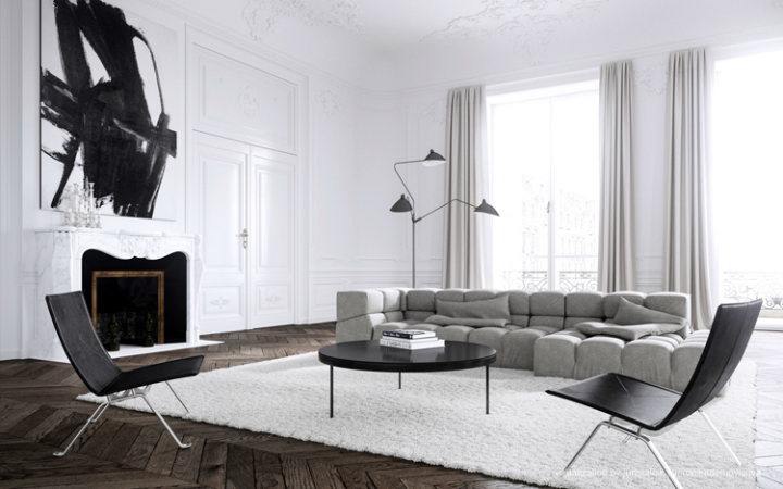 Modern Lines in French Interior Style