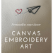 Paper plane embroidered canvas art