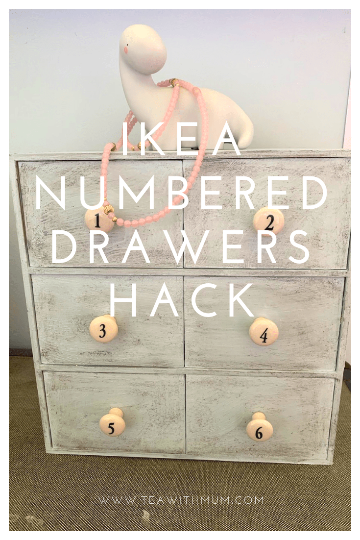 IKEA Moppe Numbered drawers hack