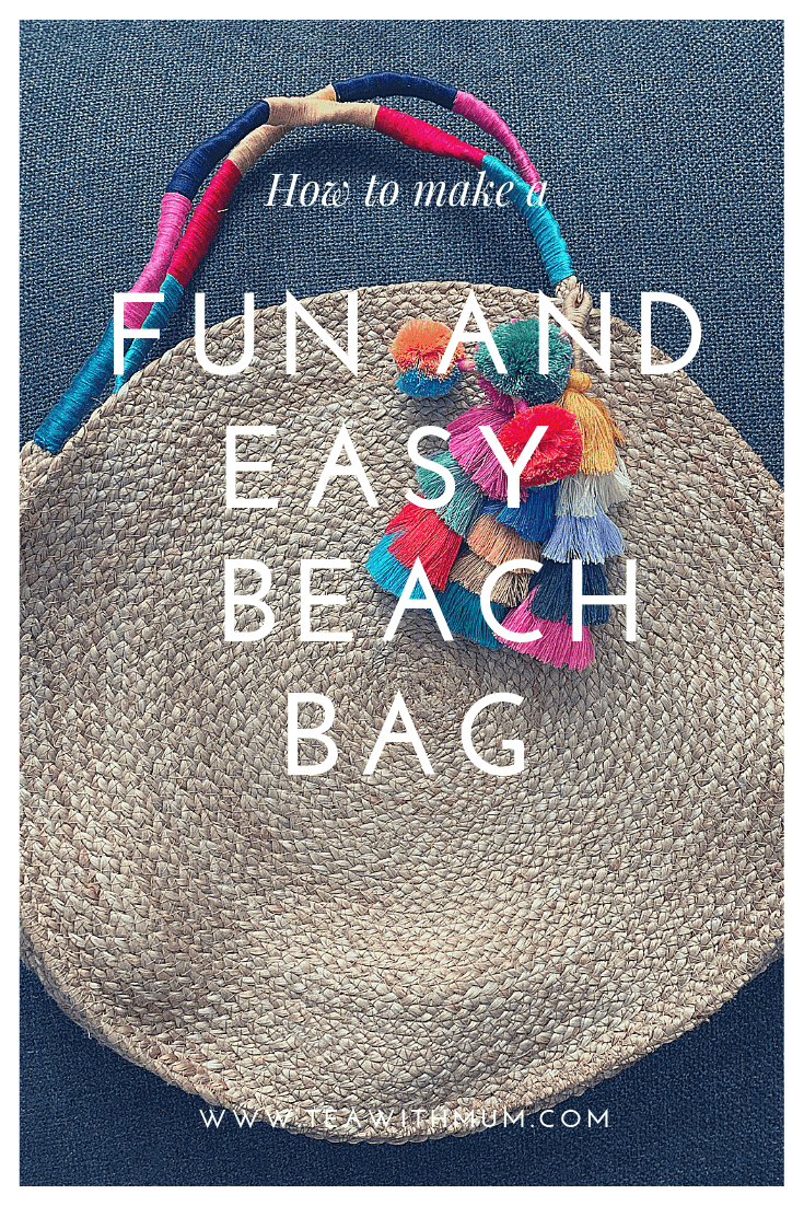 Fun and easy beach bag title