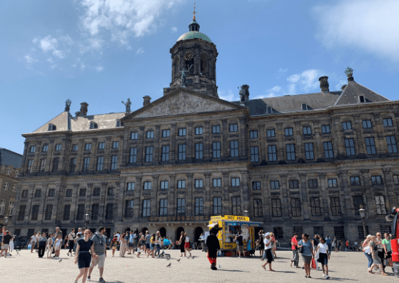 Dutch Royal Palace in Amsterdam on our best trip ever