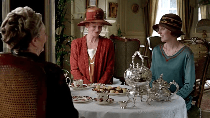"Afternoon tea scene from ""Downton Abbey"" Season Four {Photo credit: Carnival Films}"