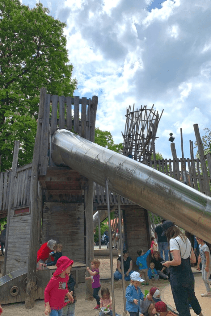The recently-revamped playground at Hellabrunn Tierpark