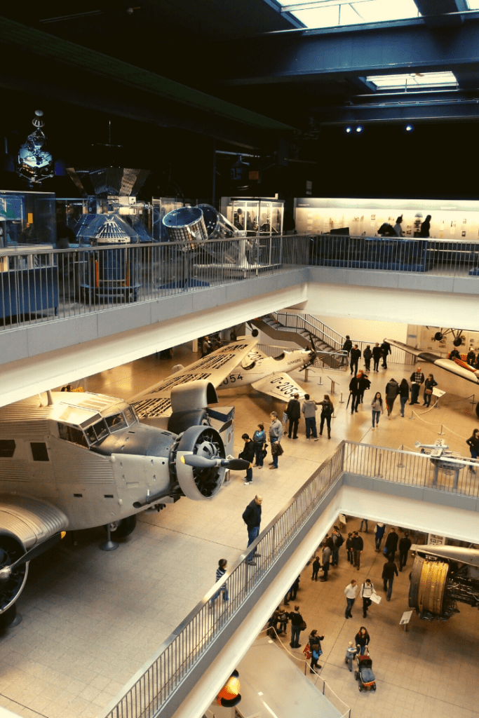 Aviation and space at the Deutsches Museum in Munich. The Museum covers so many topics, there is bound to be something for everyone. What to do and see with kids in and around Munich