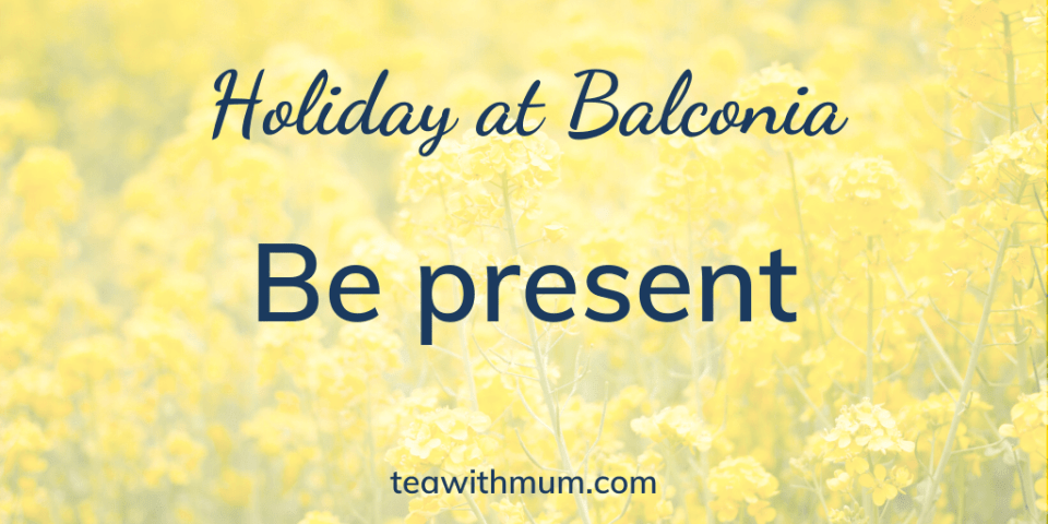 Holiday at Balconia: Be present: Image of yellow canola flowers