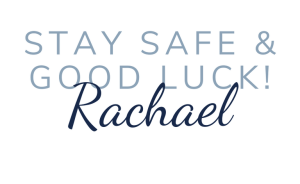 Stay Safe & Good Luck sign-off