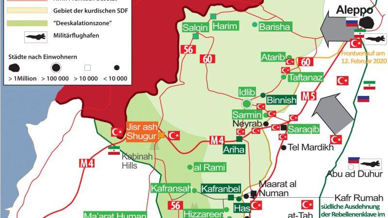 SYRIEN-KRIEG EXKLUSIV (Syria War Map) Nr. 59, 18. Februar 2020