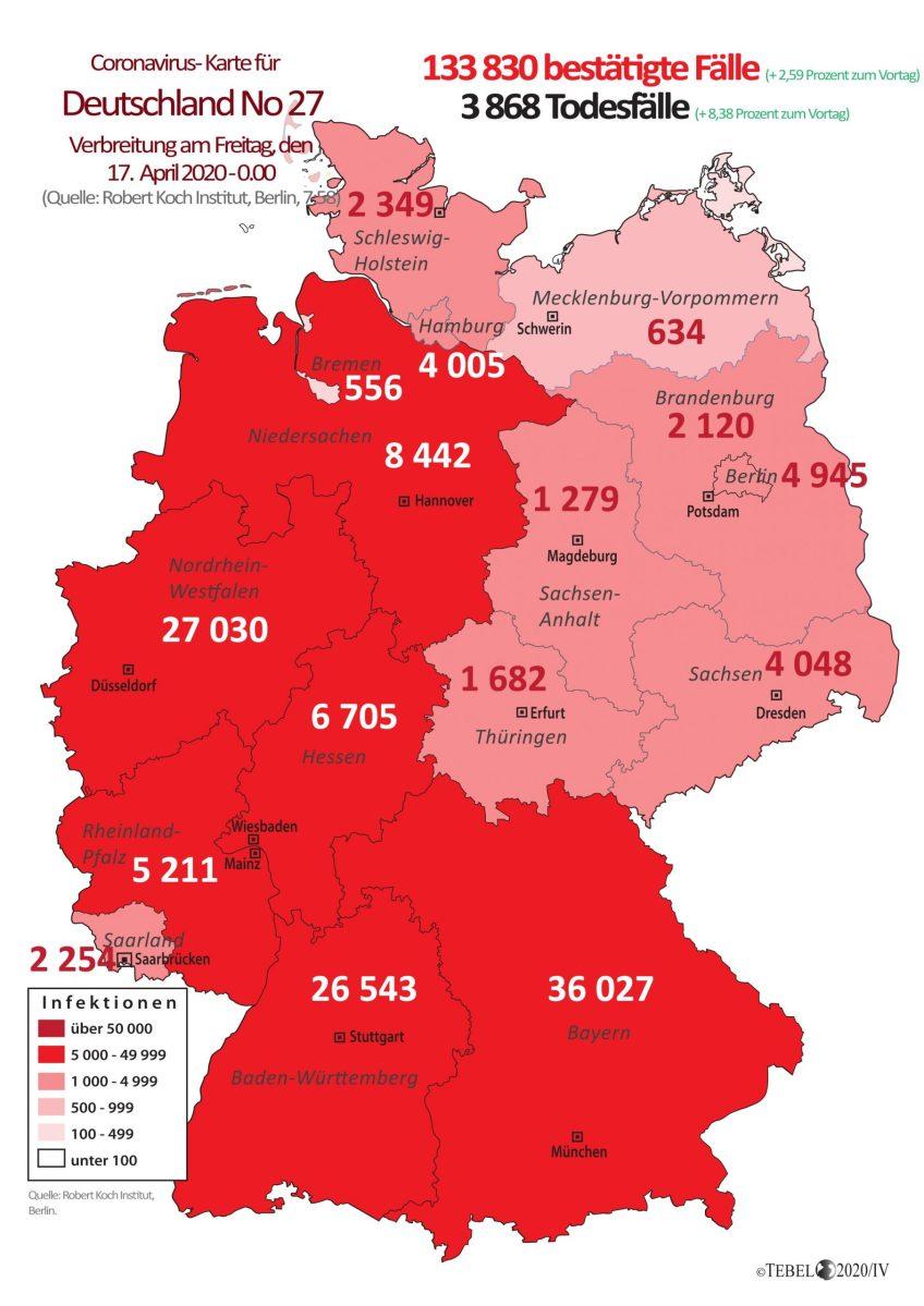 Corona Verteilung Deutschland Karte