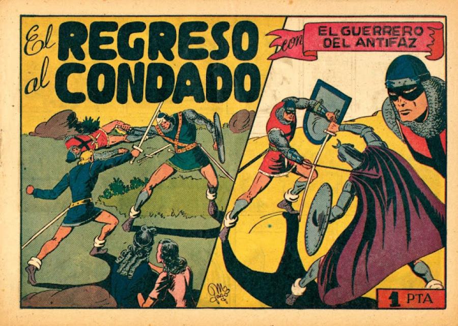 GUERRERO DEL ANTIFAZ. EL (1944. VALENCIANA) 55 - Ficha de número en Tebeosfera