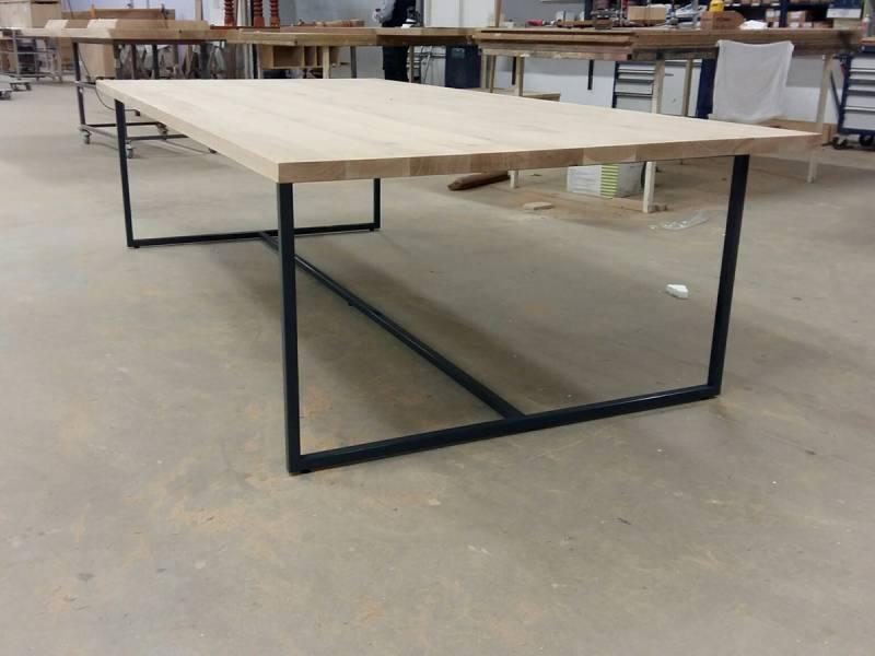 Eettafel bureau werkplek gepoedercoat staal eiken  Te