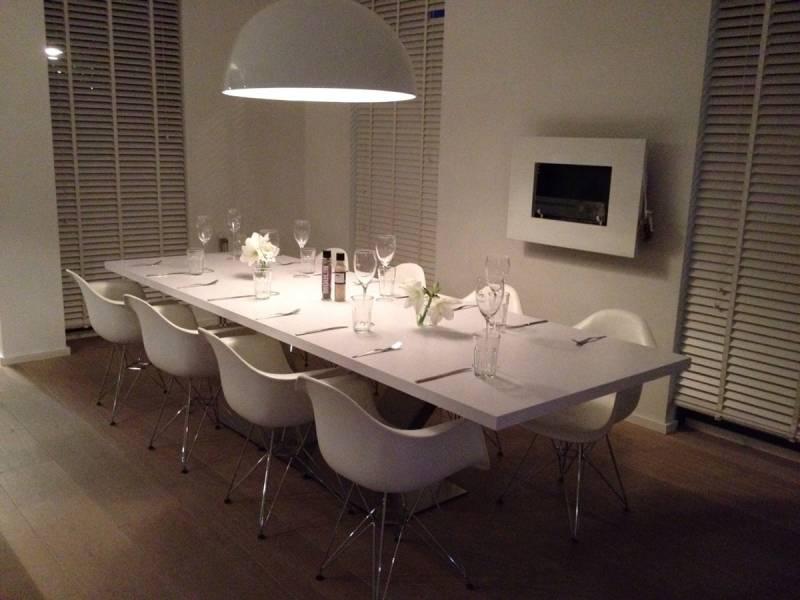 Moderne eettafel RAL zijdeglans RVS  Te Boveldt