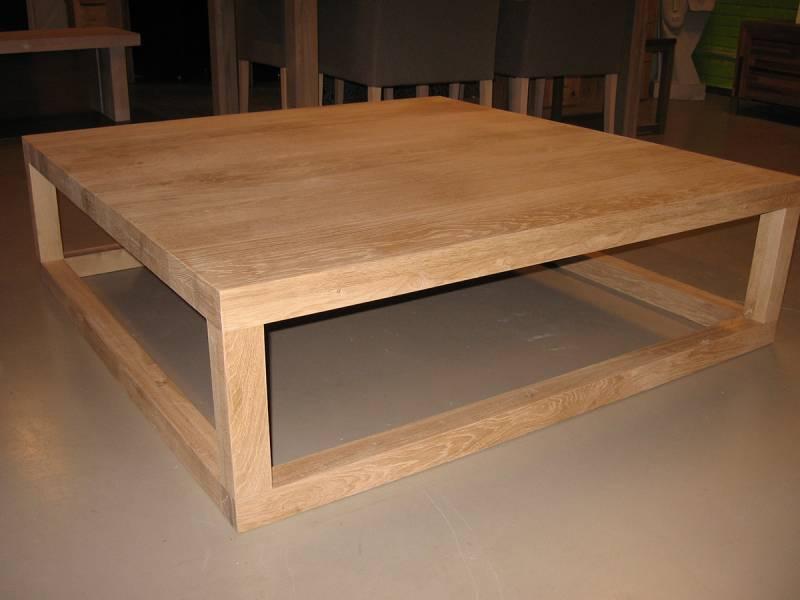 Salontafel vierkant eikenhout modern  Te Boveldt